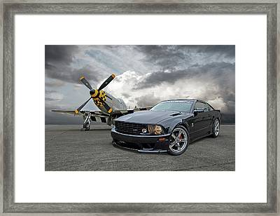 Mission Accomplished - P51 With Saleen Mustang Framed Print by Gill Billington