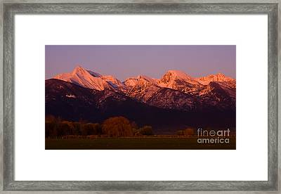 Mission Alpenglow Framed Print