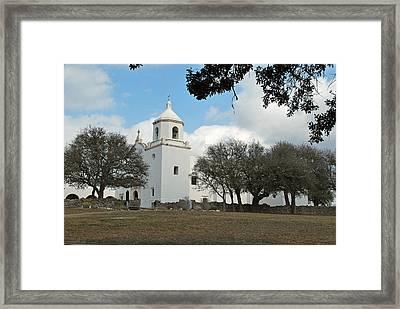 Mission At Goliad Framed Print by Teresa Blanton