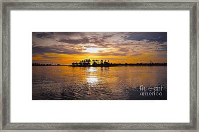 Mission Bay Purple Sunset By Jasna Gopic Framed Print by Jasna Gopic
