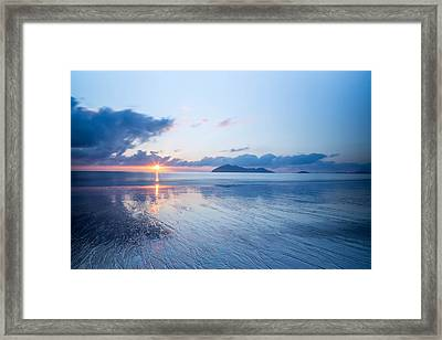 Mission Beach Glass Framed Print