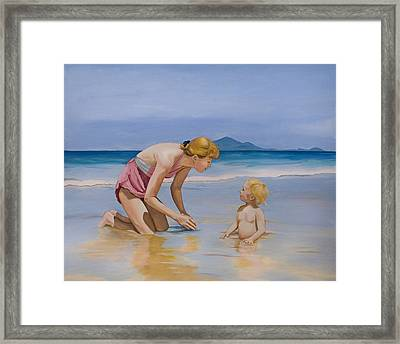 Mission Beach Framed Print by Robert Lacy