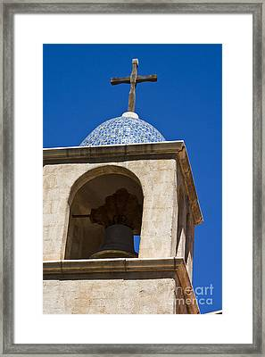 Mission Bell Tower Framed Print by Tim Hightower