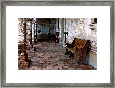 Mission Bench Framed Print by Eric Foltz