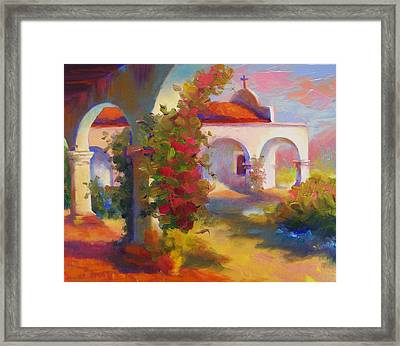 Mission Capistrano Framed Print by Maryanne  Jacobsen
