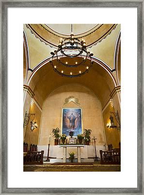 Mission Concepcion Altar Framed Print