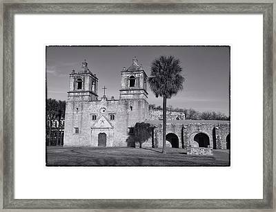Mission Concepcion -- Bw Framed Print