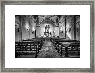 Mission Concepcion Chapel Bw Framed Print