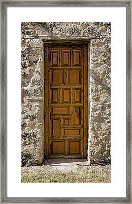Mission Concepcion Door #6 Framed Print by Stephen Stookey