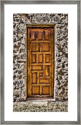 Mission Concepcion Door Framed Print