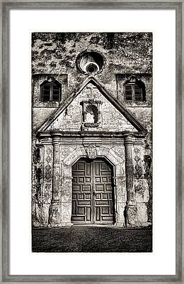 Mission Concepcion - Bw Toned Border Framed Print