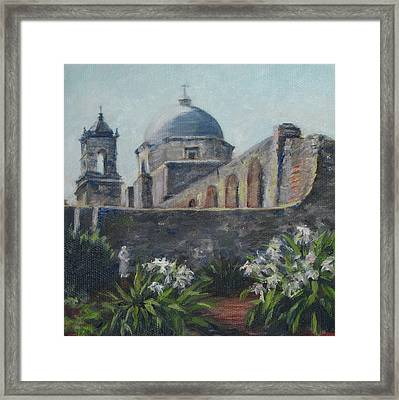 Mission Concepcion In San Antonio Framed Print