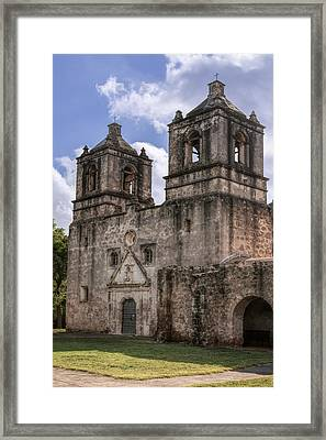 Mission Concepcion San Antonio Framed Print by Joan Carroll