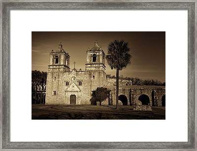 Mission Concepcion -- Sepia Framed Print by Stephen Stookey
