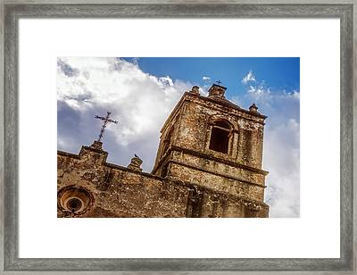 Mission Concepcion Tower Framed Print