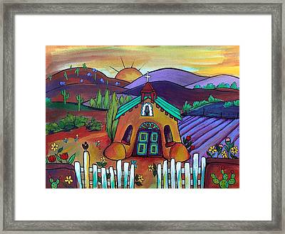 Mission Del Corazon Framed Print