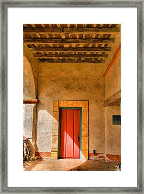 Mission Door Framed Print by Steven Ainsworth