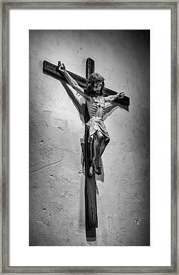 Mission Espada Crucifix Framed Print