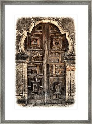Mission Espada Door - 1 Framed Print