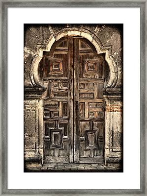 Mission Espada Door - 2 Framed Print