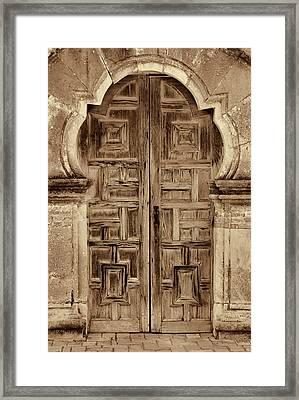 Mission Espada Door - 3 Framed Print by Stephen Stookey