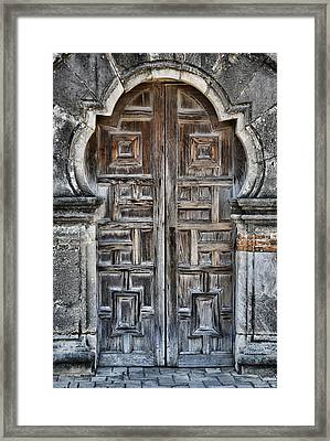 Mission Espada Door - 5 Framed Print