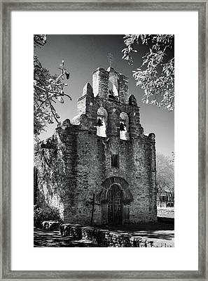Mission Espada -- Infrared Framed Print by Stephen Stookey