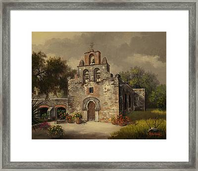 Mission Espada Framed Print by Kyle Wood