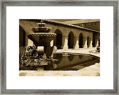 Mission Fountian Framed Print