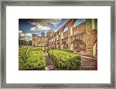 Mission Garden Framed Print