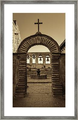 Mission Gate And Bells #2 Framed Print by Stephen Stookey