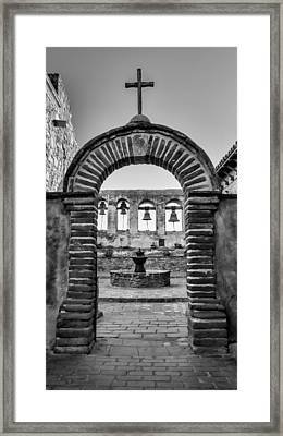 Mission Gate And Bells #3 Framed Print