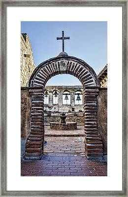 Mission Gate And Bells Framed Print