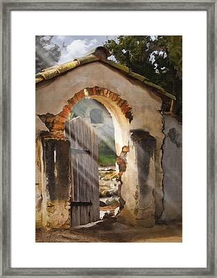Mission Gate Framed Print