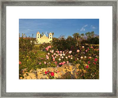 Mission In Colorful Landscape Setting Framed Print by David Buffington