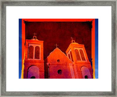 Mission In New Mexico Framed Print by Susanne Van Hulst