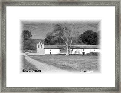 Mission La Purisma Framed Print by Gary Brandes