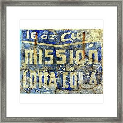 Mission Lotta Cola Framed Print