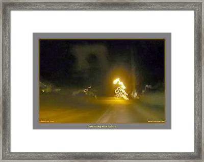 Mission Motorcycle Accident  Framed Print by Jane Tripp