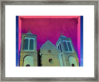 Mission New Mexico Var.2 Framed Print by Susanne Van Hulst