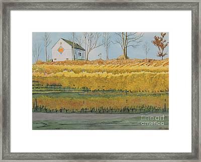Mission Peninsula Gold Framed Print by LeAnne Sowa
