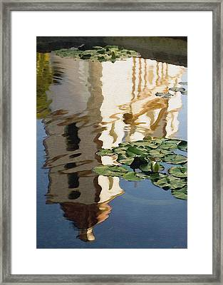 Mission Reflection Framed Print by Sharon Foster
