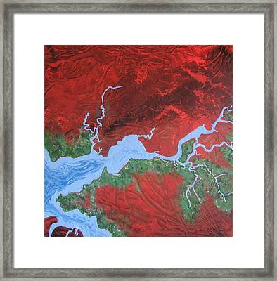 Mission River Framed Print