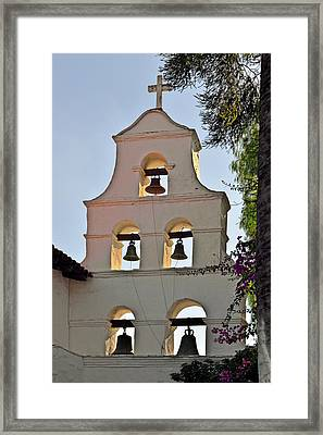 Mission San Diego De Alcala Bell Tower Framed Print by Christine Till