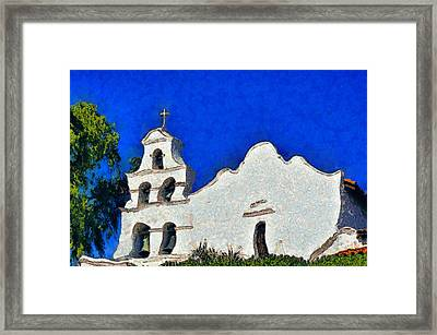 Mission San Diego De Alcala Framed Print by Christine Till
