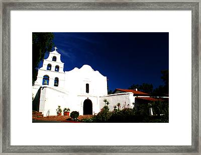 Framed Print featuring the photograph Mission San Diego De Alcala by Christopher Woods