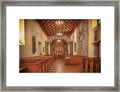 Framed Print featuring the photograph Mission San Francisco De Asis Interior by Susan Rissi Tregoning