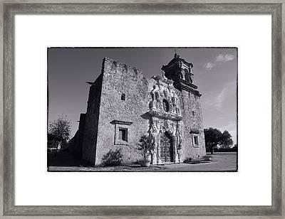 Mission San Jose - Bw Framed Print by Stephen Stookey