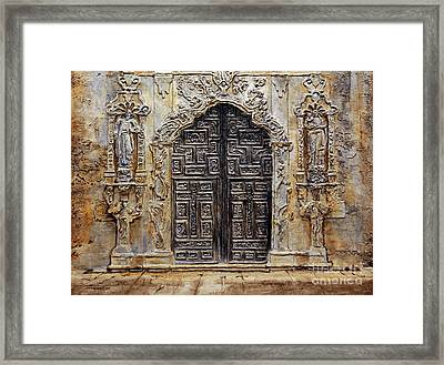 Mission San Jose Church Entrance Framed Print by Joey Agbayani