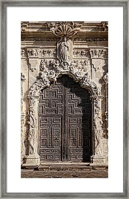 Mission San Jose Door - 1 Framed Print by Stephen Stookey